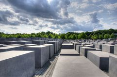 Εβραϊκό μνημείο του Βερολίνου Στοκ Εικόνες