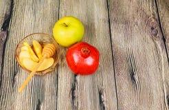 Εβραϊκό νέο έτος - Rosh Hashanah - Apple και μέλι Στοκ εικόνα με δικαίωμα ελεύθερης χρήσης