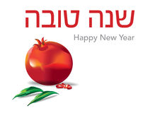 Εβραϊκό ρόδι tova της Shana Στοκ Εικόνες