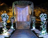 Εβραϊκό Hupa, γαμήλιο putdoor Στοκ Εικόνα