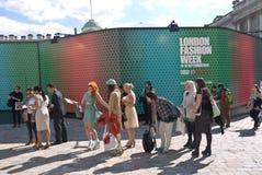 Εβδομάδα μόδας του Λονδίνου στο σπίτι Somerset Στοκ εικόνες με δικαίωμα ελεύθερης χρήσης