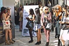 Εβδομάδα μόδας του Λονδίνου στο σπίτι Somerset. Στοκ Φωτογραφία