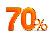 Εβδομήντα τοις εκατό στο άσπρο υπόβαθρο Απομονωμένη τρισδιάστατη απεικόνιση Στοκ φωτογραφία με δικαίωμα ελεύθερης χρήσης