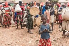 Εβδομαδιαία αγορά Fasha, περιοχή Konso, της Αιθιοπίας Στοκ εικόνα με δικαίωμα ελεύθερης χρήσης