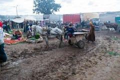 Εβδομαδιαία κρατημένη αγορά στο Μαρόκο Στοκ εικόνα με δικαίωμα ελεύθερης χρήσης