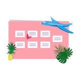 Εβδομαδιαίος αρμόδιος για το σχεδιασμό με τη θέση για τη διανυσματική απεικόνιση σημειώσεων Στοκ Εικόνα