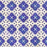 Εγγενές μπατίκ άνευ ραφής ζωηρόχρωμο τετραγωνικό σχέδιο ύφους boho watercolor καλλιτεχνικό απεικόνιση αποθεμάτων