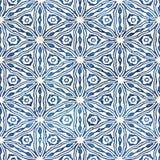 Εγγενές μπατίκ άνευ ραφής ζωηρόχρωμο τετραγωνικό σχέδιο ύφους boho watercolor καλλιτεχνικό Στοκ Φωτογραφία
