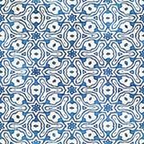 Εγγενές μπατίκ άνευ ραφής ζωηρόχρωμο τετραγωνικό σχέδιο ύφους boho watercolor καλλιτεχνικό Στοκ Εικόνα