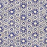 Εγγενές μπατίκ άνευ ραφής ζωηρόχρωμο τετραγωνικό σχέδιο ύφους boho watercolor καλλιτεχνικό Στοκ εικόνα με δικαίωμα ελεύθερης χρήσης