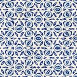 Εγγενές μπατίκ άνευ ραφής ζωηρόχρωμο τετραγωνικό σχέδιο ύφους boho watercolor καλλιτεχνικό ελεύθερη απεικόνιση δικαιώματος