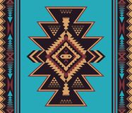Εγγενές νοτιοδυτικό σημείο Αμερικανός, Ινδός, αζτέκικα, άνευ ραφής ομιλία Ναβάχο απεικόνιση αποθεμάτων