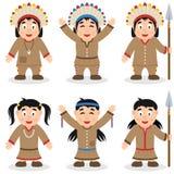 Εγγενές σύνολο χαρακτήρων ημέρας των ευχαριστιών Στοκ Εικόνα