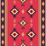 Εγγενές ύφασμα Γεωμετρικό σχέδιο kilim εθνικό πρότυπο άνευ ραφής διανυσματική απεικόνιση