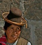 Εγγενής γυναίκα από το Περού στοκ εικόνες με δικαίωμα ελεύθερης χρήσης