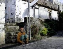 Εγγενής ηλικιωμένη γυναίκα Batanes Φιλιππίνες Ivatan Στοκ Εικόνα