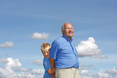 εγγονός παππούδων στοκ εικόνα με δικαίωμα ελεύθερης χρήσης