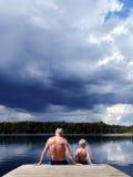 εγγονός παππούδων Στοκ φωτογραφία με δικαίωμα ελεύθερης χρήσης
