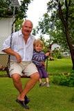 εγγονός παππούδων Στοκ εικόνες με δικαίωμα ελεύθερης χρήσης