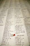 Εγγραμμένα ονόματα  η πύλη Menin Στοκ εικόνες με δικαίωμα ελεύθερης χρήσης