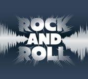 Εγγραφή βράχος-και-ρόλων Στοκ Εικόνα