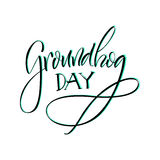 εγγραφή Ημέρα Groundhog Στοκ εικόνα με δικαίωμα ελεύθερης χρήσης