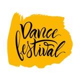 εγγραφή Η φράση: ` Φεστιβάλ ` χορού Στοκ εικόνες με δικαίωμα ελεύθερης χρήσης