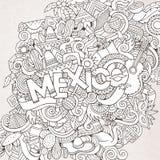 Εγγραφή και doodles στοιχεία χεριών του Μεξικού Στοκ Εικόνες