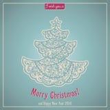 Εγγραφή Καλών Χριστουγέννων Κάρτα συγχαρητηρίων Στοκ Εικόνες