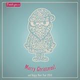 Εγγραφή Καλών Χριστουγέννων Κάρτα συγχαρητηρίων Στοκ Φωτογραφία