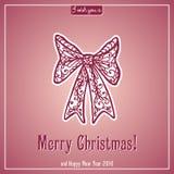 Εγγραφή Καλών Χριστουγέννων Κάρτα συγχαρητηρίων Στοκ εικόνες με δικαίωμα ελεύθερης χρήσης