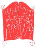 Εγγραφή κειμένων ενός χεριού ρητού που σύρεται doodle Στοκ Εικόνα