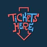 Εγγραφή πατουρών πλακών σημαδιών εισιτηρίων εδώ αστεία καλλιτεχνική με ένα AR Στοκ εικόνα με δικαίωμα ελεύθερης χρήσης