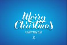 Εγγραφή στο δημοφιλές ύφος της Χαρούμενα Χριστούγεννας ` ευτυχούς Διανυσματική απεικόνιση