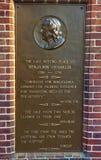 Εγγραφή στο νεκροταφείο στο έδαφος ενταφιασμών εκκλησιών Χριστού στη Φιλαδέλφεια Στοκ Εικόνα