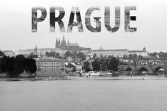 Εγγραφή της Πράγας σε γραπτό στοκ φωτογραφία