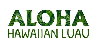 Εγγραφή της Χαβάης Aloha απεικόνιση αποθεμάτων
