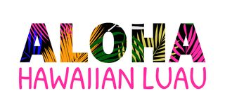 Εγγραφή της Χαβάης Aloha ελεύθερη απεικόνιση δικαιώματος