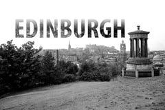 Εγγραφή του Εδιμβούργου στη γραπτή Σκωτία στοκ εικόνες