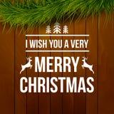 Εγγραφή τυπογραφίας σχεδίου Χαρούμενα Χριστούγεννας διανυσματική απεικόνιση