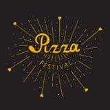 Εγγραφή φεστιβάλ πιτσών ιταλική πίτσα Στοκ Εικόνα