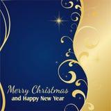 εγγραφή χαιρετισμών Χριστουγέννων καρτών εύθυμη Στοκ Εικόνες