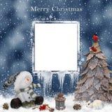 εγγραφή χαιρετισμών Χριστουγέννων καρτών εύθυμη Στοκ εικόνα με δικαίωμα ελεύθερης χρήσης