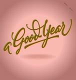 Εγγραφή χεριών «ενός καλού έτους» Στοκ φωτογραφίες με δικαίωμα ελεύθερης χρήσης