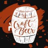 Εγγραφή χεριών βουρτσών μπύρας και Oktoberfest Στοκ Φωτογραφίες