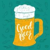 Εγγραφή χεριών βουρτσών μπύρας και Oktoberfest Στοκ φωτογραφίες με δικαίωμα ελεύθερης χρήσης