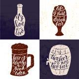 Εγγραφή χεριών βουρτσών μπύρας και Oktoberfest Στοκ Εικόνες