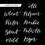 Εγγραφή χεριών βουρτσών μπύρας και Oktoberfest Στοκ Φωτογραφία