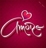 Εγγραφή χεριών AMORE () Στοκ Εικόνες