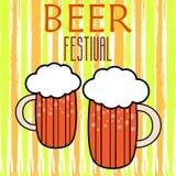 Εγγραφή Handdrawin για το σπίτι μπύρας με την κούπα της μπύρας τεχνών Αφίσα ζυθοποιείων Στοκ Εικόνα